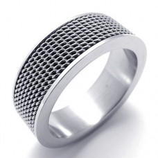 Titanium Steel Net Ring