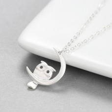 Wholesale 925 Sterling Silver Owl Necklace