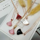 925 sterling silver Agate opal shell pendant sector skirt necklaces