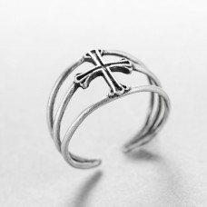 Wholesale Vintage 925 Sterling Silver Wide Cross Ring