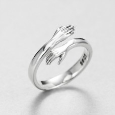 Wholesale Valentine Gift 925 Sterling Silver Love Embrace Ring