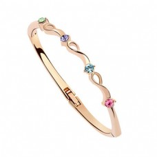 18KGP Crystal Bangle