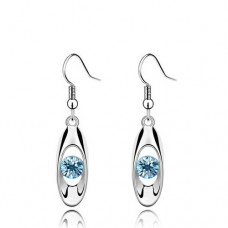 trendy crystal earrings