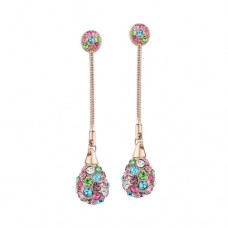 Czech Rhinestone Drop Earrings
