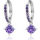 Cubic Zirconia Hoop Circle Earrings