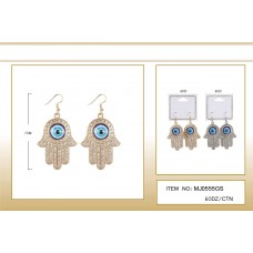 fashion hand shape dangle earrings