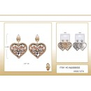 low price fashion heart shape earrings