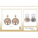 fashion clip on round earrings