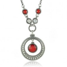 Red Rhinestone Necklace