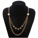 Cheap African costume jewelry eco-friendly low price pearl bead necklace for women