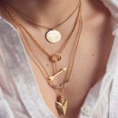 New shining metal arrow wings multi-chain necklace hot sale jewelry gift for women