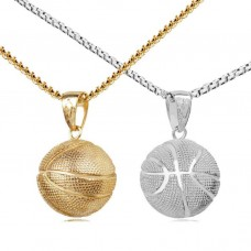 Hot Sale Fashion Sport Pendant Necklaces Stainless Steel Basketball Pendants College Necklaces