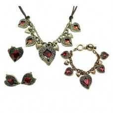 Red Heart Jewelry Set