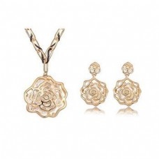 Retro Rose Jewelry Set