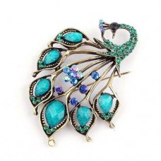 Beautiful Peacock Brooch