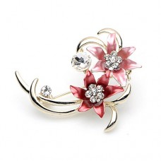 Flower Crystal Brooch