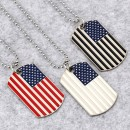 USA flag pendant American soldier necklace alloy enamel name tag pendant unisex